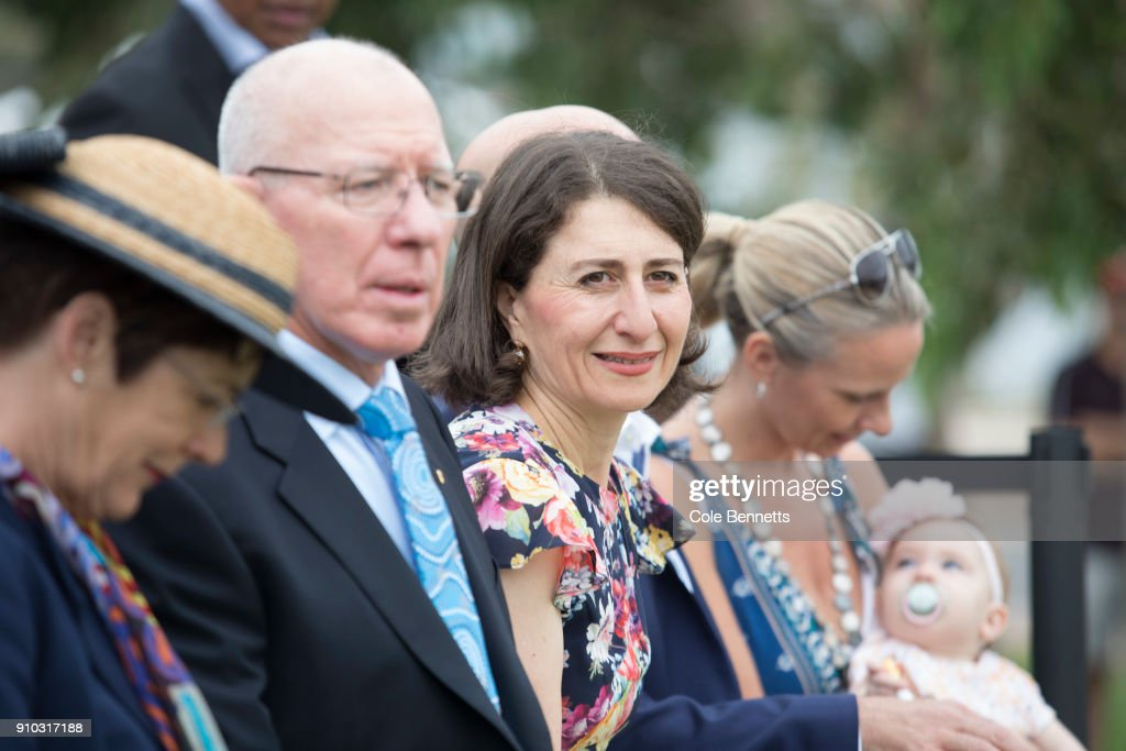 Premier, Gladys Berejiklian attends the Wugulora Ceremony at Barangaroo on January 26, 2018 in Sydney, Australia. Australia Day, formerly known as Foundation Day, is the official national day of Australia and is celebrated annually on January 26 to commemorate the arrival of the First Fleet to Sydney in 1788. Indigenous Australians refer to the day as 'Invasion Day' and there is growing support to change the date which can be celebrated by all Australians.