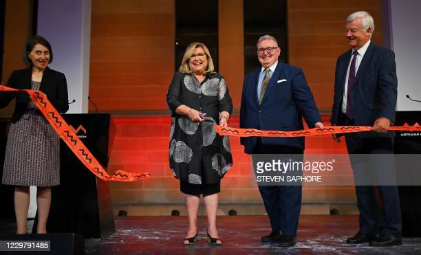 Premier Gladys Berejiklian, Director and CEO of the Australian Museum Kim McKay, Minister Don Harwin and President of the Australian Museum Trust...