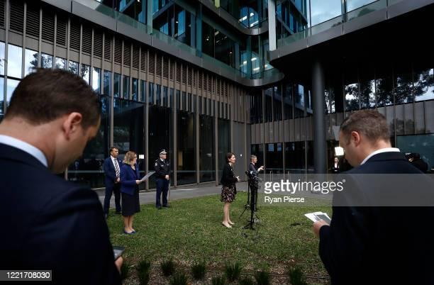 Premier Gladys Berejiklian speaks during a media briefing on April 29 2020 in Sydney Australia NSW Premier Gladys Berejiklian has announced that...