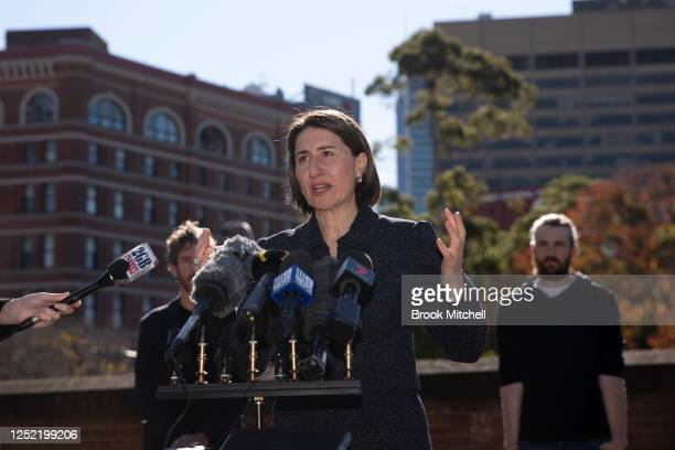 Premier GladysBerejiklian speaks at the announcement of a new Tech hub for Sydney on June 25 2020 in Sydney Australia The NSW government has...