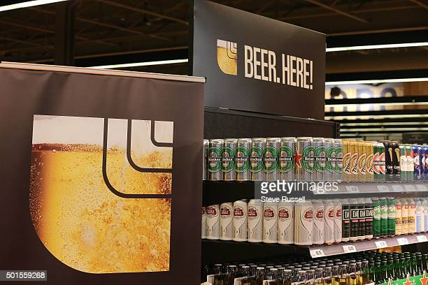 Premier Kathleen Wynne makes an announcement alongside Minister Charles Sousa at the Loblaws at 17 Leslie Street which is the first grocery store in...