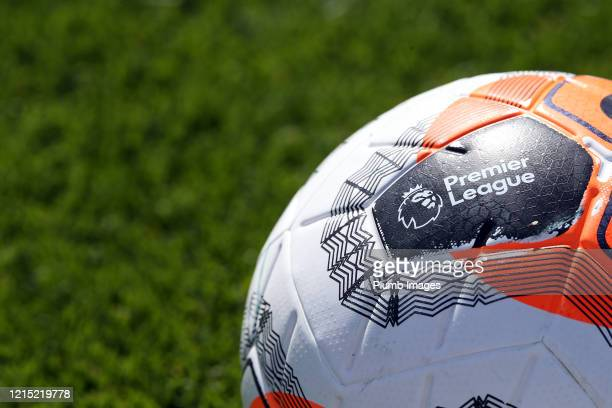 Premier League ball during the Leicester City training session at Belvoir Drive Training Complex on May 26th 2020 in Leicester United Kingdom