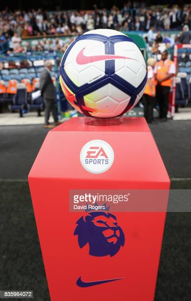 Premier League ball during the Premier League match between Huddersfield Town and Newcastle United at John Smith's Stadium on August 20 2017 in...