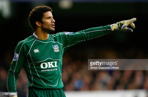 Premier League - Everton v Portsmouth - Portsmouth goalkeeper David James -