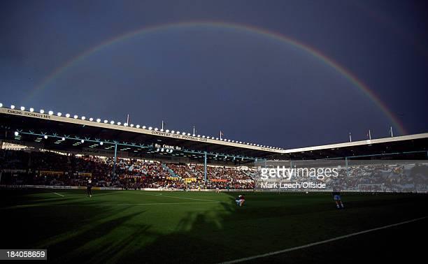 Premier League football Coventry City v Liverpool A rainbow over Highfield Road stadium