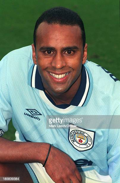 Premier League football Manchester City v Southampton A big smile from new City signing David Rocastle