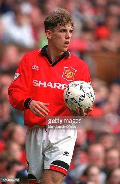 Premier League Football, Manchester United v Sheffield Wednesday, Phil Neville prepares to take a throw for United.