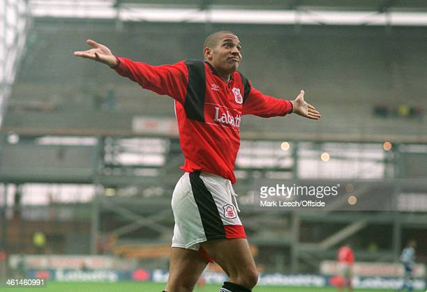 Premier League Football Nottingham Forest v Queens Park Rangers Stan Collymore of Forest pulls a strange facial expression