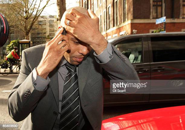 Premier league footballer Marlon King arrives at the City of Westminster Magistrates Court to face charges of sexual assault on April 8, 2009 in...