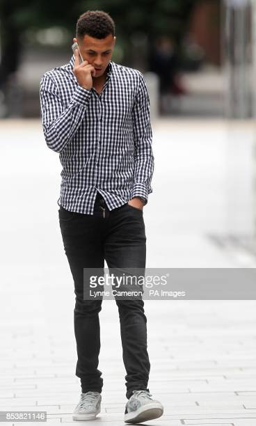 Premier League footballer Ravel Morrison arriving at Manchester Magistrates Court where he faces two counts of common assault after allegedly...
