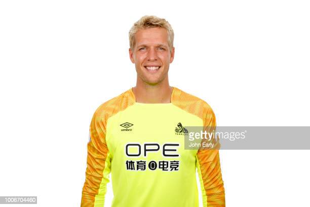 Premier League Headshot of Jonas Lössl of Huddersfield Town on July 26 2018 in Huddersfield England