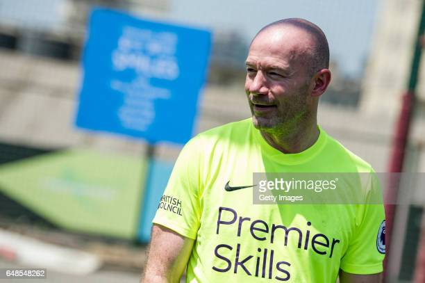 Premier League legend Alan Shearer attends a coaching demonstration and tournament for local youngsters led by locally trained Premier Skills coaches...