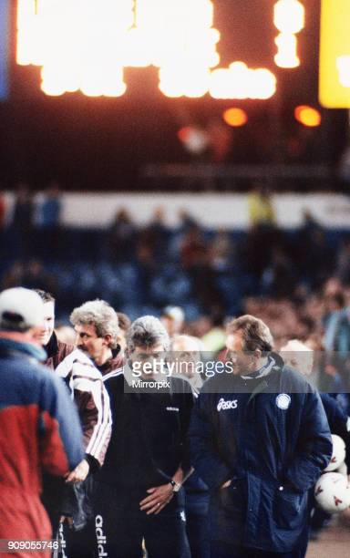 Premier League match at Elland Road Leeds United 0 v Newcastle United 1 Newcastle manager Kevin Keegan walks off the pitch with Leeds manager Howard...