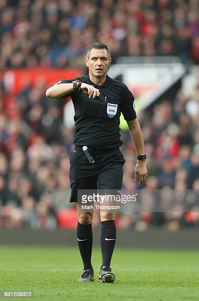 Premier League referee Andre Marriner in action during the Emirates FA Cup Third Round match between Manchester United and Reading at Old Trafford on...
