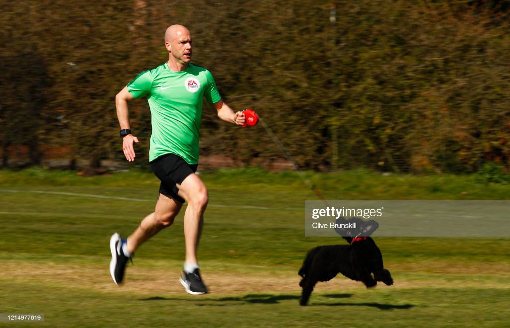 Premier League Referee Anthony Taylor Training During The Lockdown Due To Coronavirus Pandemic : ニュース写真