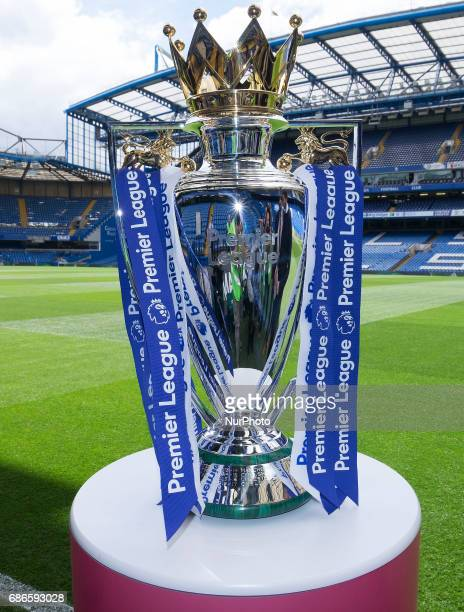 Premier League Trophy during the Premier League match between Chelsea and Sunderland at Stamford Bridge London England on 21 May 2017