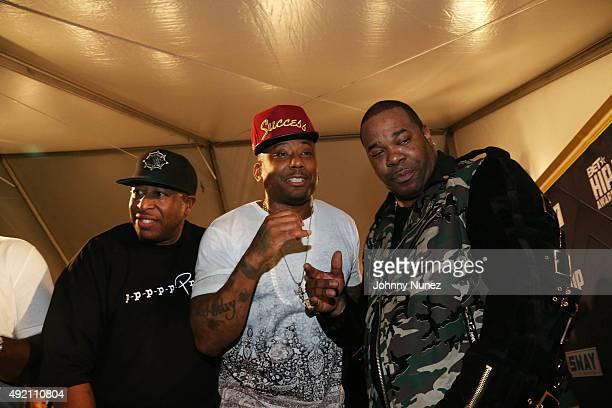 DJ Premier Maino and Busta Rhymes attend the 2015 BET Hip Hop Awards at Boisfeuillet Jones Atlanta Civic Center on October 9 in Atlanta Georgia