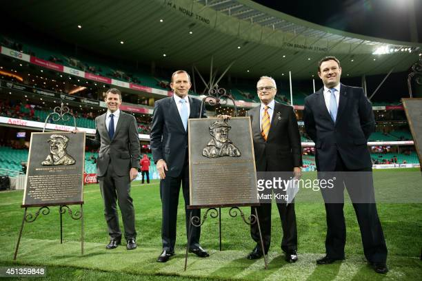 NSW Premier Mike Baird Prime Minister of Australia Tony Abbott SCG Trust Chairman Tony Shepherd and NSW Minister for Sport and Recreation Stuart...
