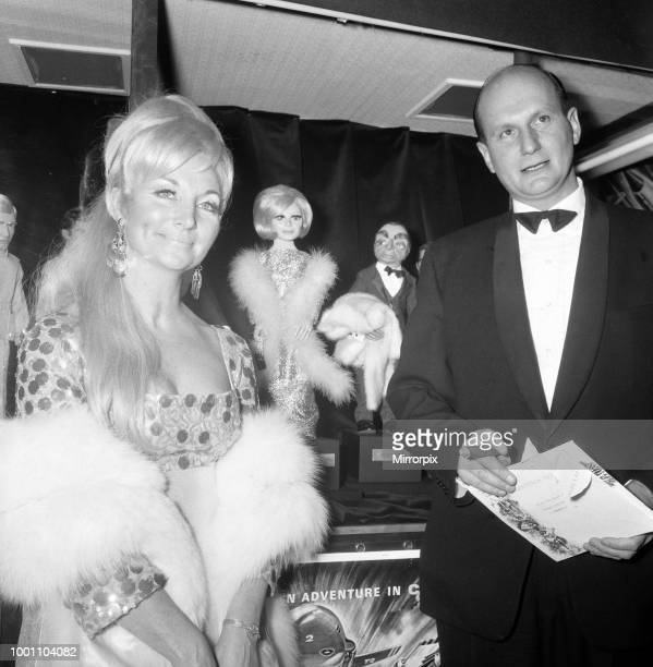 Premier of 'Thunderbirds Are Go' held at the London Pavilion. Pictured, the creators of the puppets, Sylvia and Gerry Anderson, 12th December 1966.
