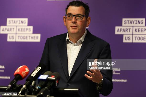 Premier of Victoria Daniel Andrews during a press conference on June 28, 2020 in Melbourne, Australia. Victoria's confirmed COVID-19 infection...