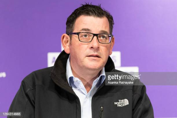 Premier of Victoria Daniel Andrews speaks during a press conference where 74 new Covid-19 cases were announced on July 05, 2020 in Melbourne,...