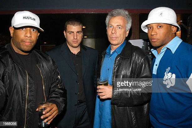 DJ Premier producer Rob Stone director Mark Levin and Atlanta Falcons running back Jamal Anderson appear the afterparty for the world premiere of the...