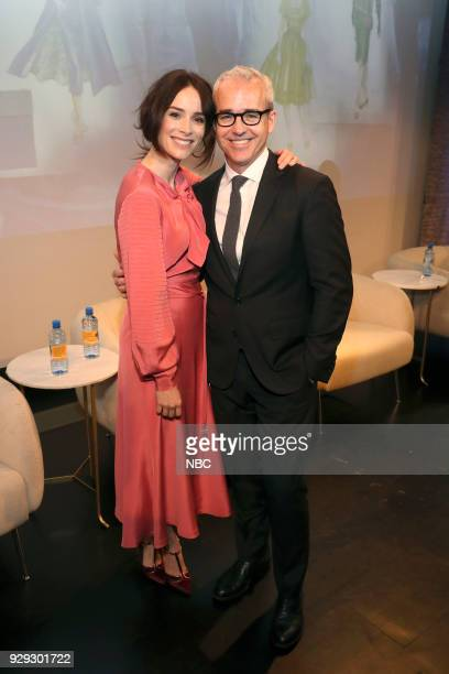 TIMELESS 'NY Premiere Event' Pictured Abigail Spencer Jess Cagle Editor in Chief of PEOPLE