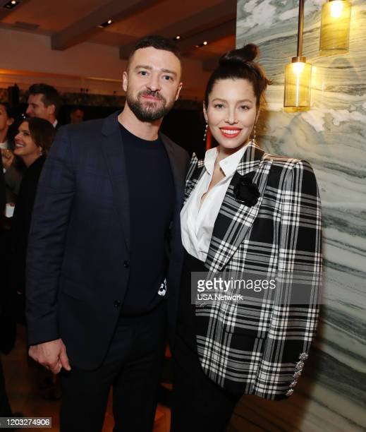 Premiere Event The London West Hollywood in Los Angeles California Pictured Justin Timberlake and Jessica Biel