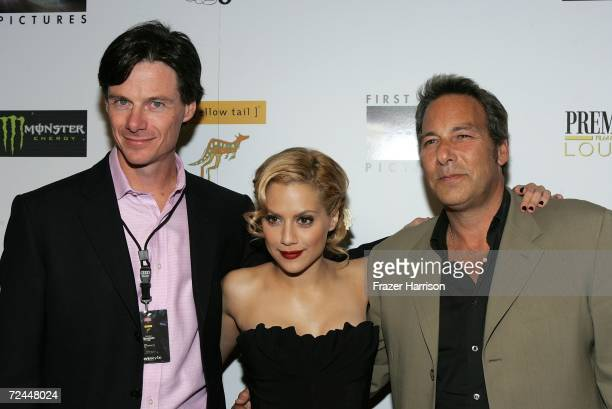 """Premiere Magazine Publisher Paul Turcotte, actress Brittany Murphy and Producer Henry Winterstern arrive at the Premiere Lounge after party for """"The..."""