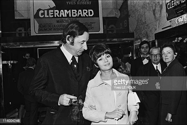 Premiere of Clerambard by Yves Robert in Paris France on October 03 1969Phlilippe Noiret and Dany Carrel