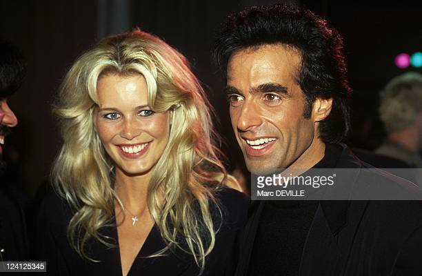 Premiere of David Copperfield's Show In Rotterdam Netherlands On September 03 1994 With Claudia Schiffer