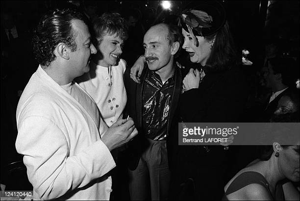 Premiere of film Coup de foudre by Diane Kurys in Paris France on April 06 1983 Coluche Isabelle Huppert Michel Blanc and Dominique Lavanant