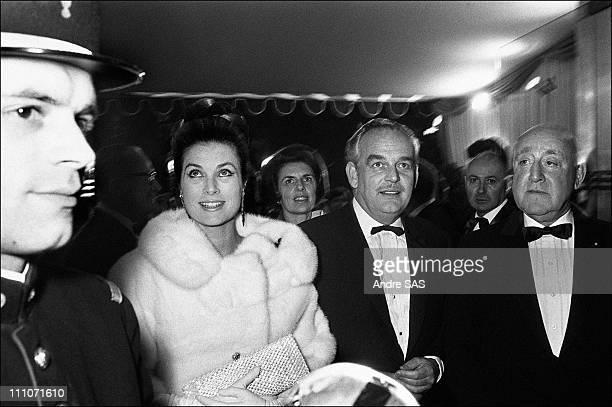 "Premiere Of ""Grand Prix"" Film :Rainier Of Monaco And Grace : Prince Rainier And Princess Grace - In Paris, France In 1967"