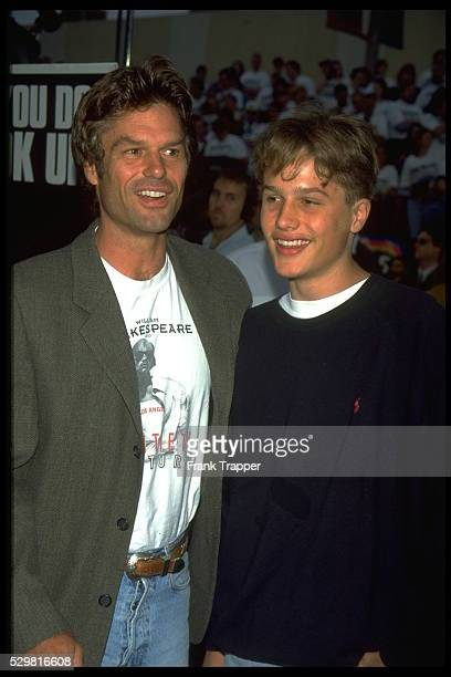 Premiere of 'Independence Day' by Roland Emmerich actor Harry Hamlin with his son Dimitri Hamlin