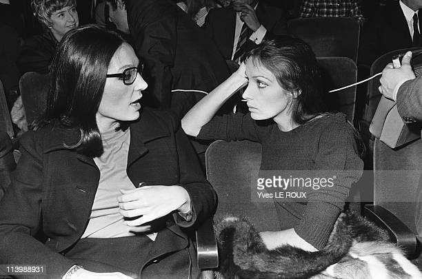 Premiere of Joe Dassin at the Olympia in Paris France on October 23 1969Nana Mouskouri and Marie Laforet