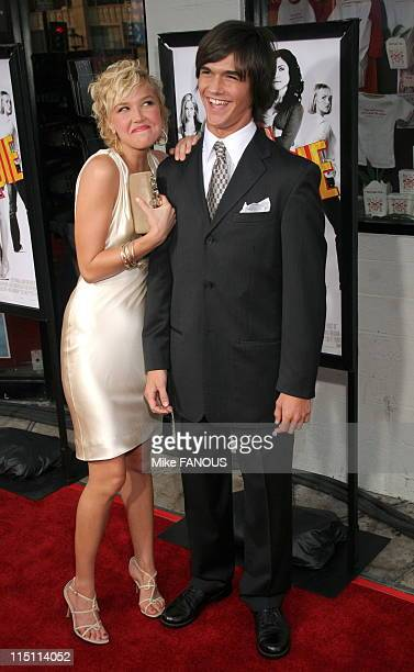 Premiere of 'John Tucker Must Die' in Hollywood United States on July 25 2006 Arielle Kebbel and brother Christian at the Mann's Grauman Chinese...