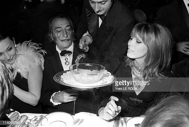 Premiere of 'Moulin rouge' in Paris France on April 08 1970Ludmila Tcherina Salvador Dali and Amanda Lear