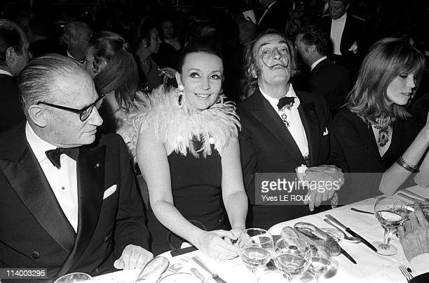 Premiere of 'Moulin rouge' in Paris France on April 08 1970Roger Garaudy Ludmila Tcherina Salvador Dali and Amanda Lear