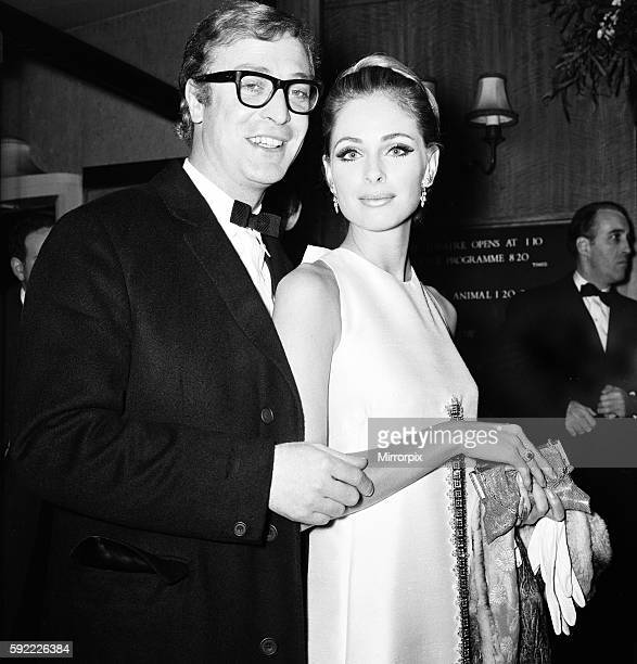 Premiere of 'Murderers Row' at Leicester Square Camilla Sparv and Michael Caine arrive 20th January 1967