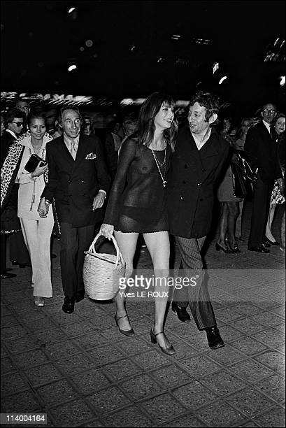 Premiere of Slogan by Pierre Grimblat in France on August 28 1969 Serge Gainsbourg Jane Birkin