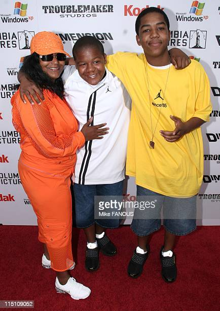 Premiere of 'The Adventures of SharkBoy and LavaGirl' in Hollywood Los Angeles United States on June 04 2005 Angel Kyle and Christopher Massey at the...