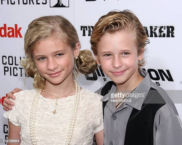 Premiere of 'The Adventures of SharkBoy and LavaGirl' in Hollywood Los Angeles United States on June 04 2005 Jenna and Cayden Boyd at the premiere of...
