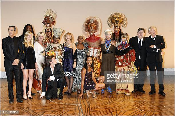 Premiere of the musical comedy 'The Lion King' at the Theatre Mogador in Paris France on October 4th 2007 Alain Chamfort Charlotte Turkeim and...