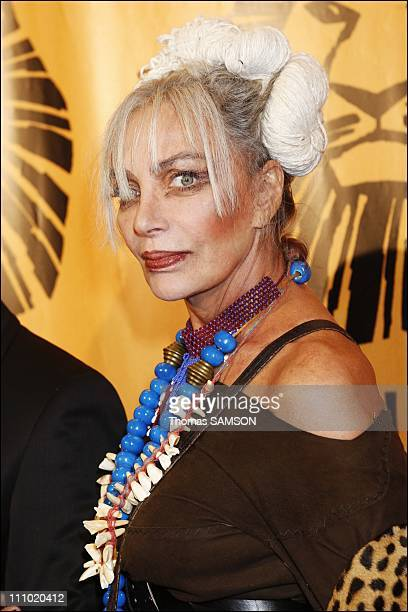 Premiere of the musical comedy 'The Lion King' at the Theatre Mogador in Paris France on October 4th 2007 Marie Laforet