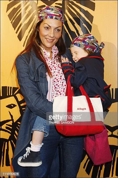 Premiere of the musical comedy 'The Lion King' at the Theatre Mogador in Paris France on October 4th 2007 Hermine de Clermont Tonnerre and her...