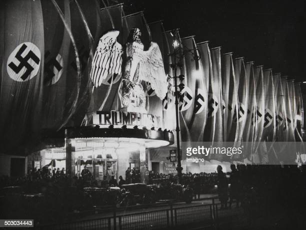 Premiere of the Nazi Movie [Reichsparteitagsmovie] Triumph of the Will by Leni Riefenstahl in Berlin's UfaPalast am Zoo March 28th of 1935 Photograph