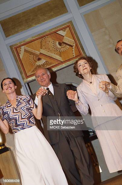 Premiere of the play by Sacha Guitry 'Jealousy' directed by Bernard Murat Theatre at the Edouard VII in Paris Anne Brochet Michel Piccoli and Annick...