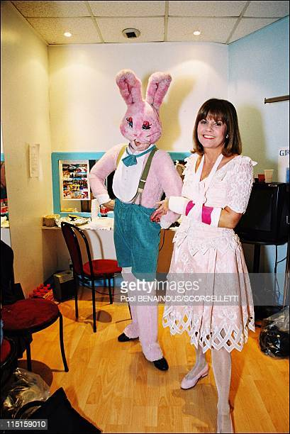 Premiere of the show at Chantal Goya in Bataclan in Paris France on December 18 1999 Inside her house