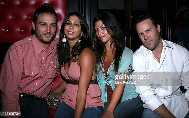 Premiere party for 'The Scorned' in Hermosa Beach United States on July 25 2005 Alex Quinn Courtney Semel Kourtney Kardashian and Noah Blake at the...