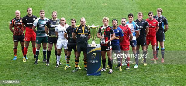 Premiership and Pro 12 captains Jack Yeandle Exeter Chiefs Alistair Hargreaves Saracens Ed Slater Leicester Tigers AlunWyn Jones Ospreys Rory Best...